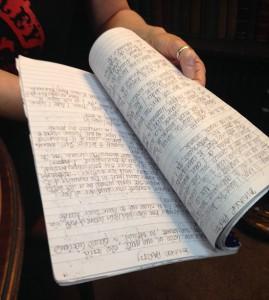 Rosie Garland's notepad