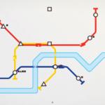 Mini Metro computer game graphic