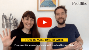 How to make time to write - video cover