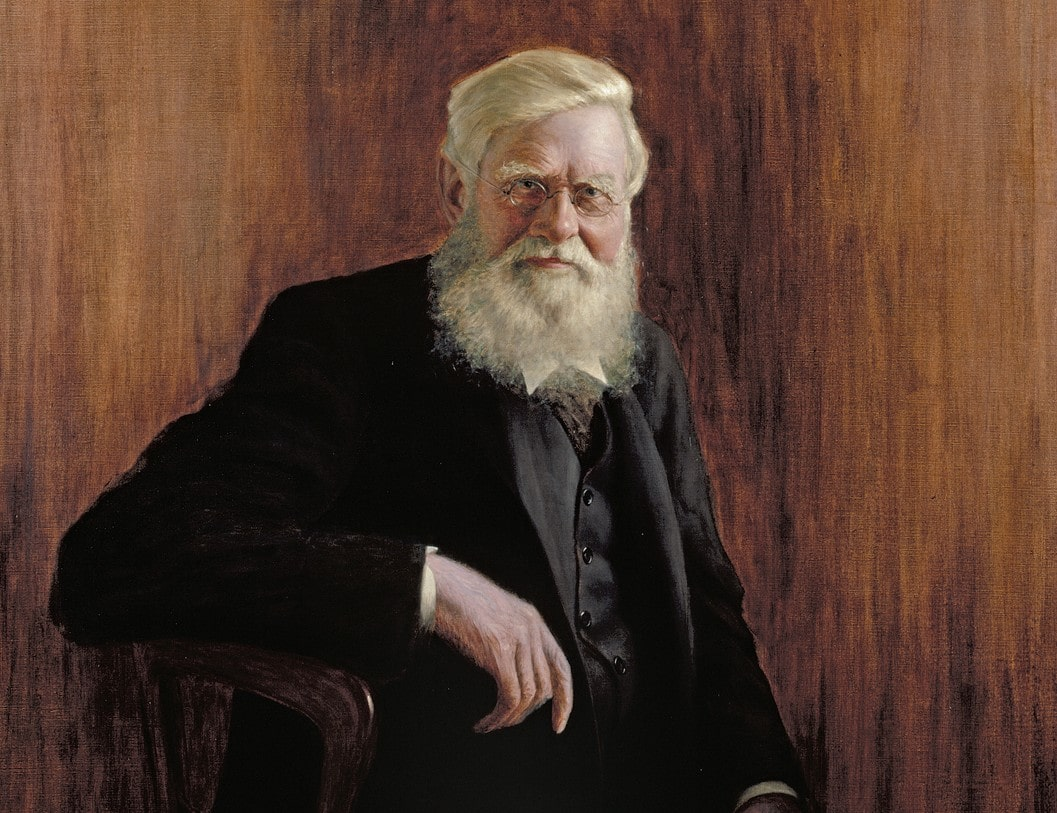 Painting of Alfred Russel Wallace